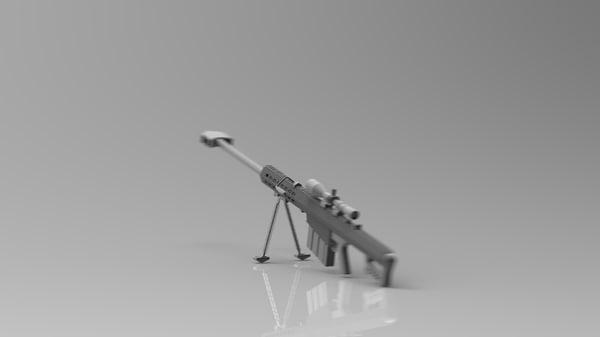 3d model barrett m82