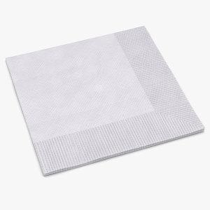 beverage napkin white 3d max