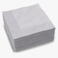 Cocktail Napkins White
