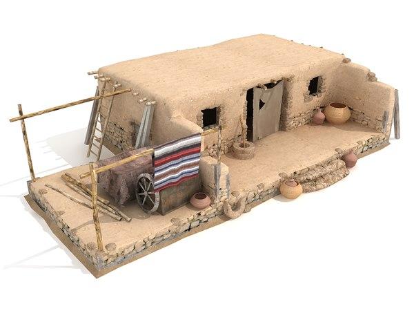 3d desert house