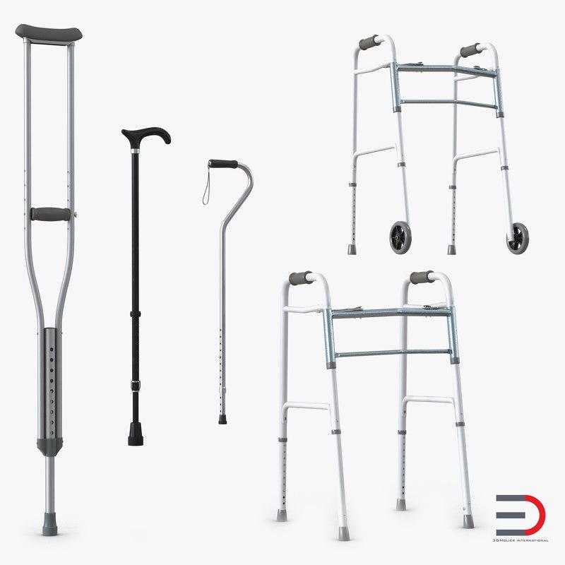 mobility aids 3d max