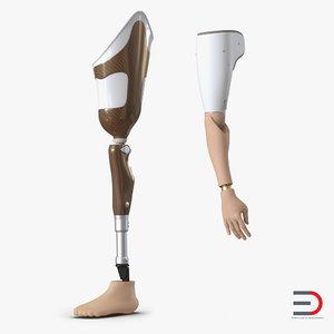 3d prosthetic leg arm model