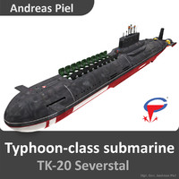 russian submarine severstal typhoon 3d 3ds