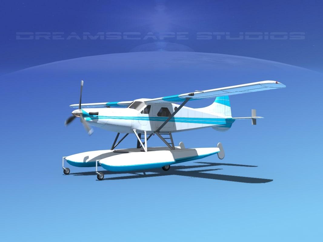 3d model dehavilland dhc-2 beaver turbo