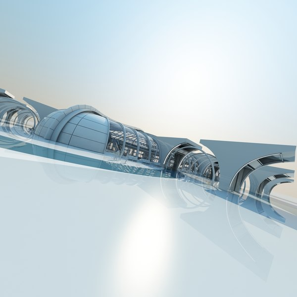 large architectural structure 3d model