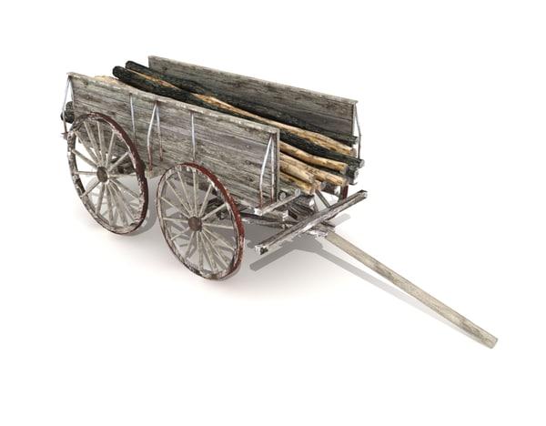 cart car wagon 3d 3ds