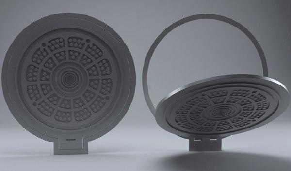 manhole 3d model