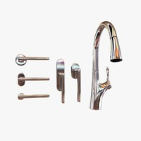 3d faucet door handle