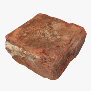 3d model brickwork debris scan