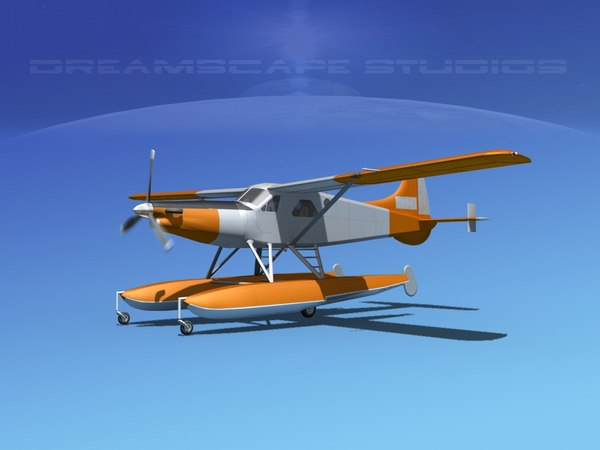3d model dehavilland dhc-2 beaver turbo