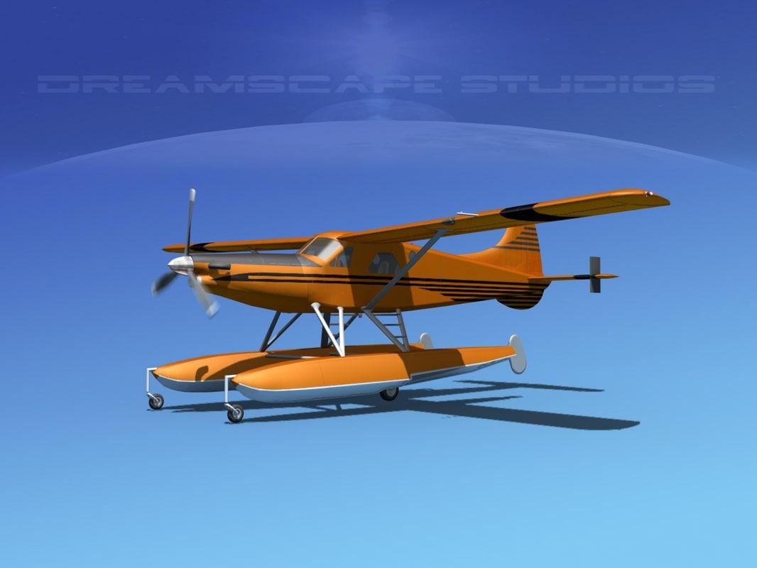 3d dehavilland dhc-2 beaver model