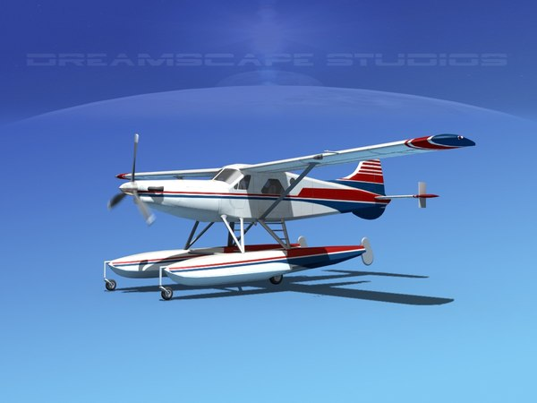 3d dehavilland beaver turboprop model