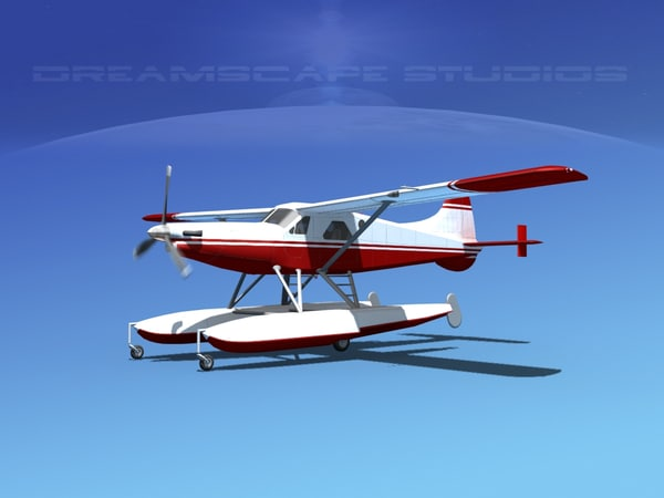dehavilland beaver turboprop 3d model