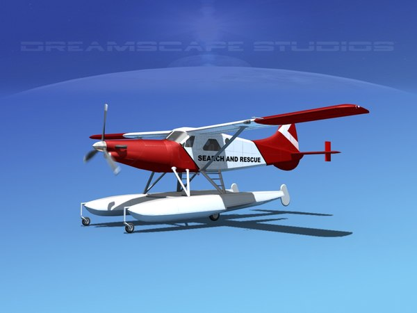 dehavilland dhc-2 beaver turboprop 3d model