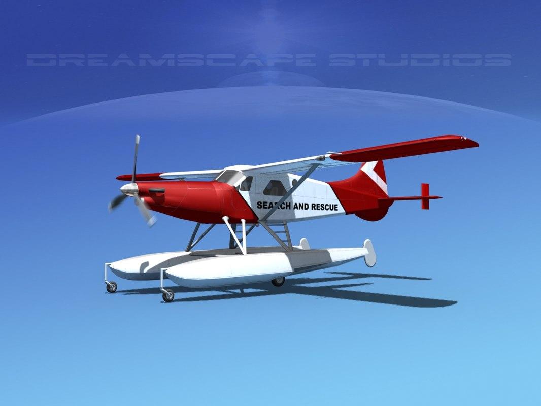 dehavilland dhc-2 beaver turboprop 3d model