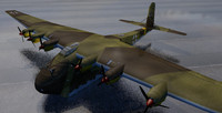 messerschmitt me-323d-6 gigant transport 3d 3ds