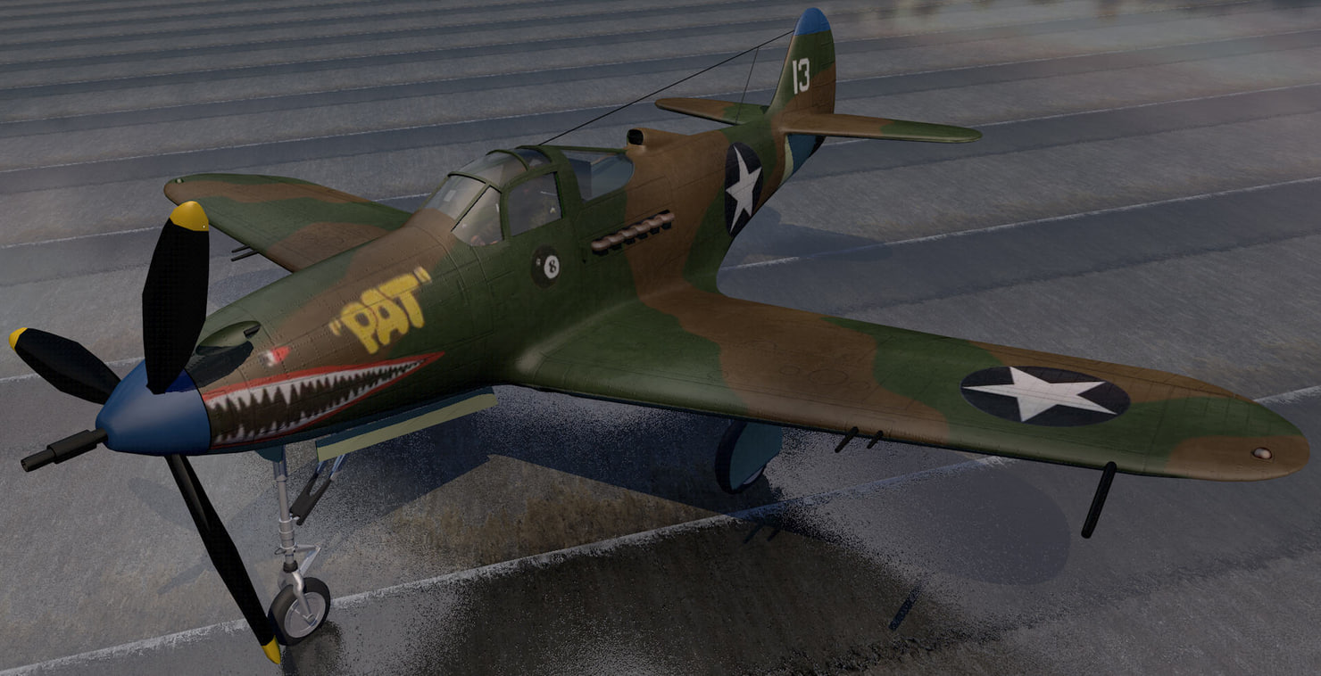 3ds bell p-39q airacobra fighter aircraft