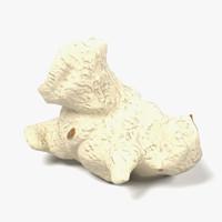3d model of popcorn piece