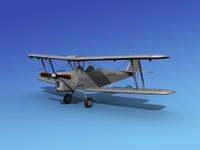 tiger moth 3d model