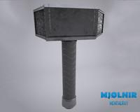 free mjlnir thor hammer 3d model