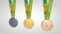 rio 2016 medals 3d c4d