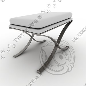 3d model swanky bench - emerson