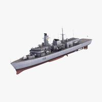 type23 frigate duke class 3d max