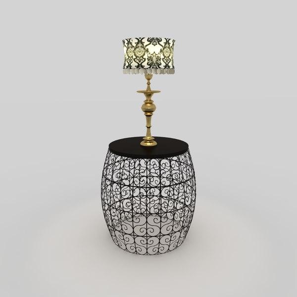 3d barrel lamp