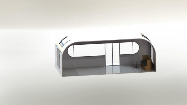 3d unique home office shape