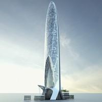 3d model namaste tower