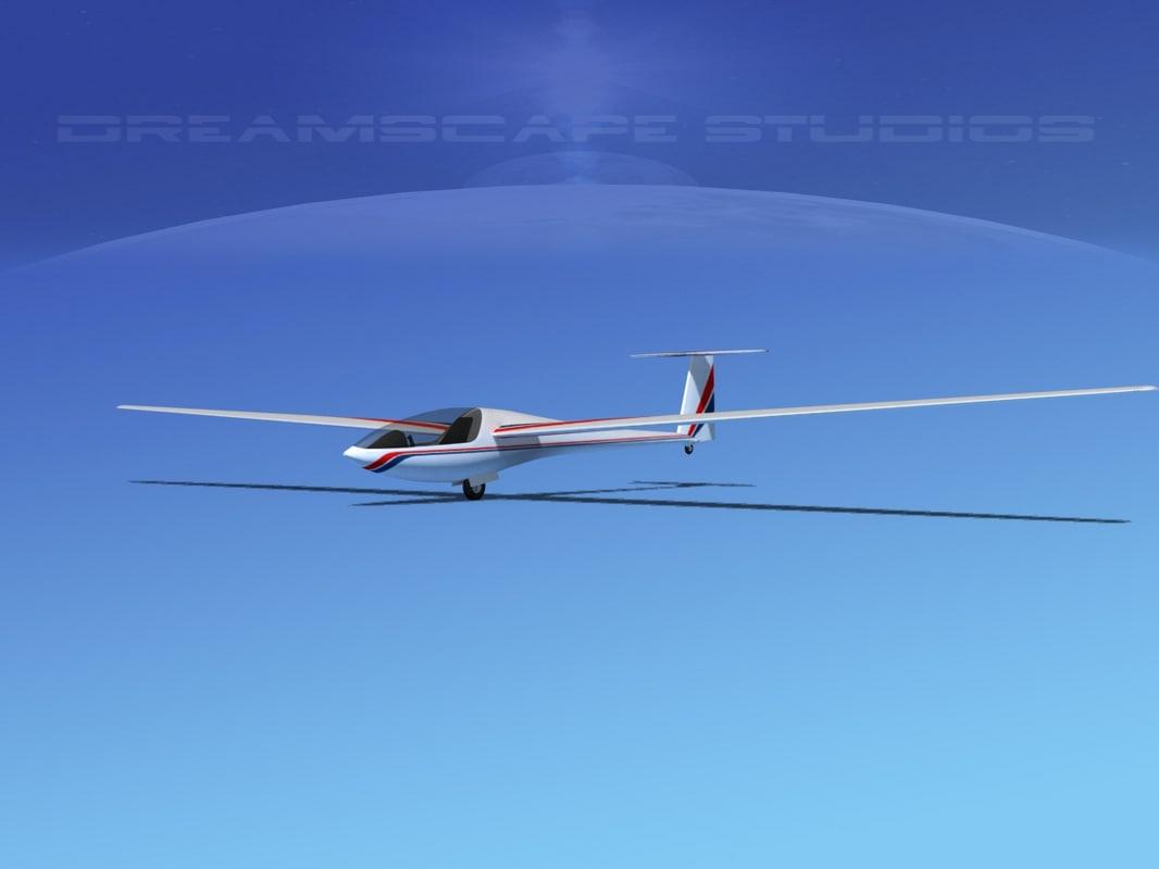 aircraft dg-400 3d model