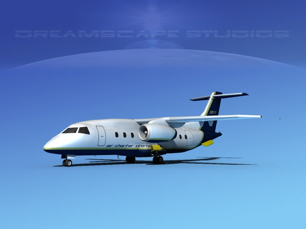 airlines 328jet jet aircraft 3ds