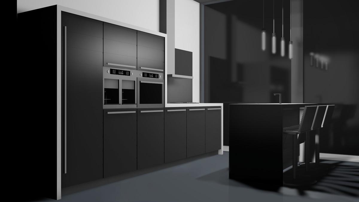 modern kitchen c4d