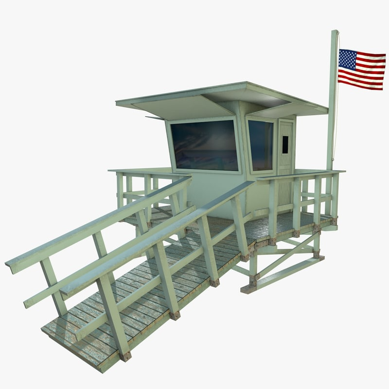 3d model lifeguard tower