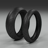 bridgestone battlax s20 3d model