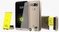 LG G5 Gold with SD/SIM Tray & Battery