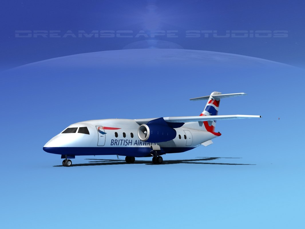 airlines 328jet jet aircraft 3d 3ds