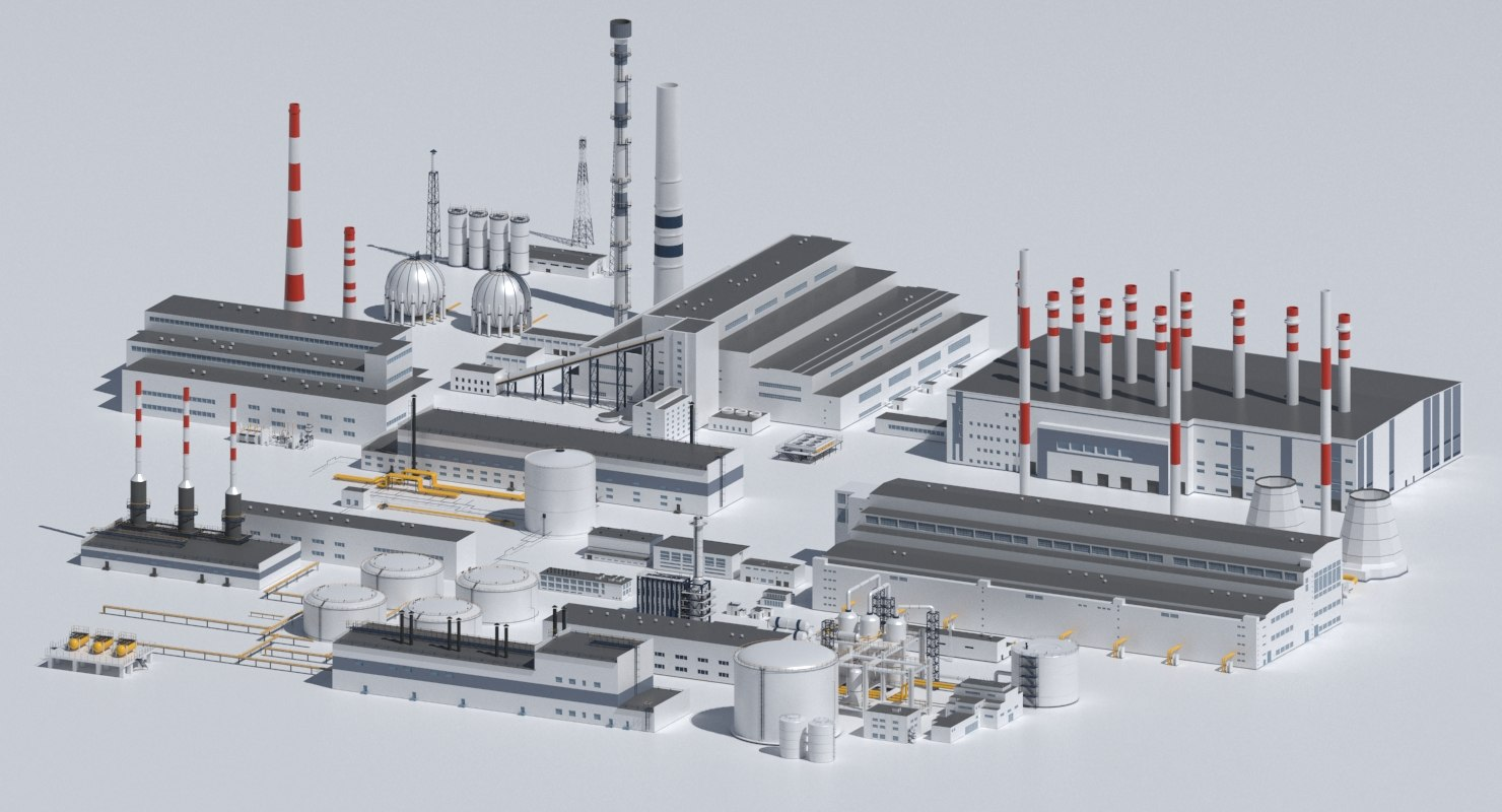 3d chp power plants model