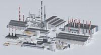 3d chp power plants model