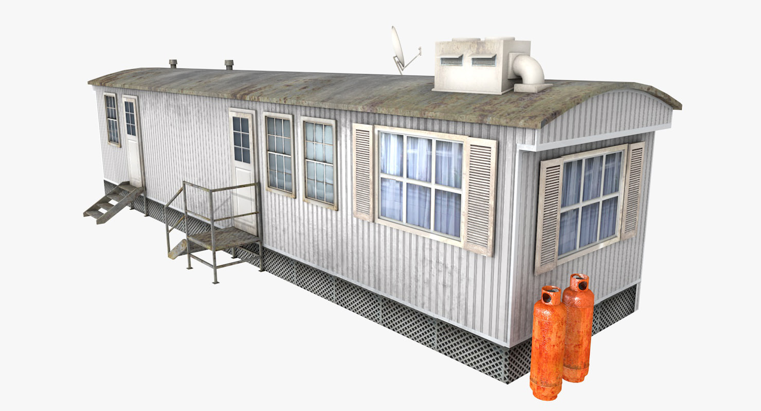 3d trailer container