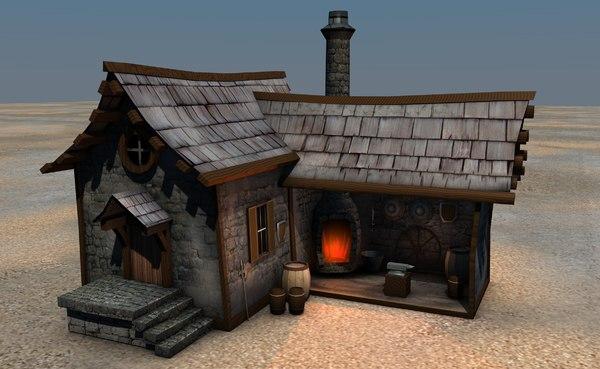 medieval blacksmith 3d 3ds
