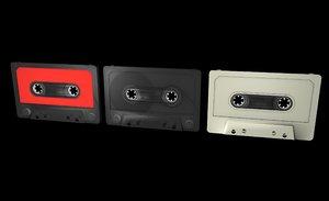 cassette tapes 3d obj