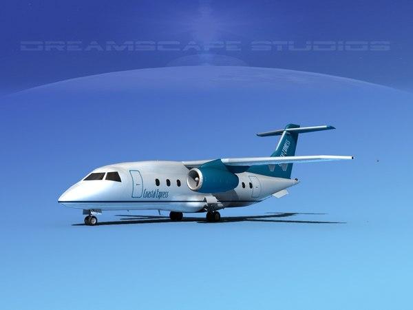 airlines 328jet jet aircraft 3d dwg