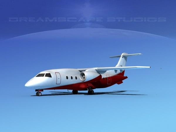 3d airlines 328jet jet aircraft model