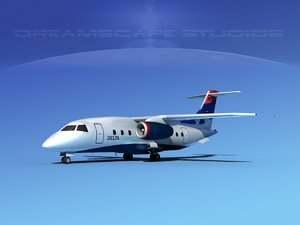 3d airlines 328jet jet aircraft model