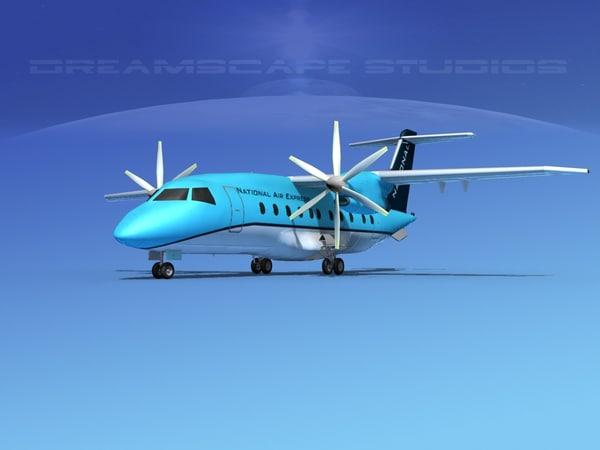 airlines 328jet jet aircraft 3d model