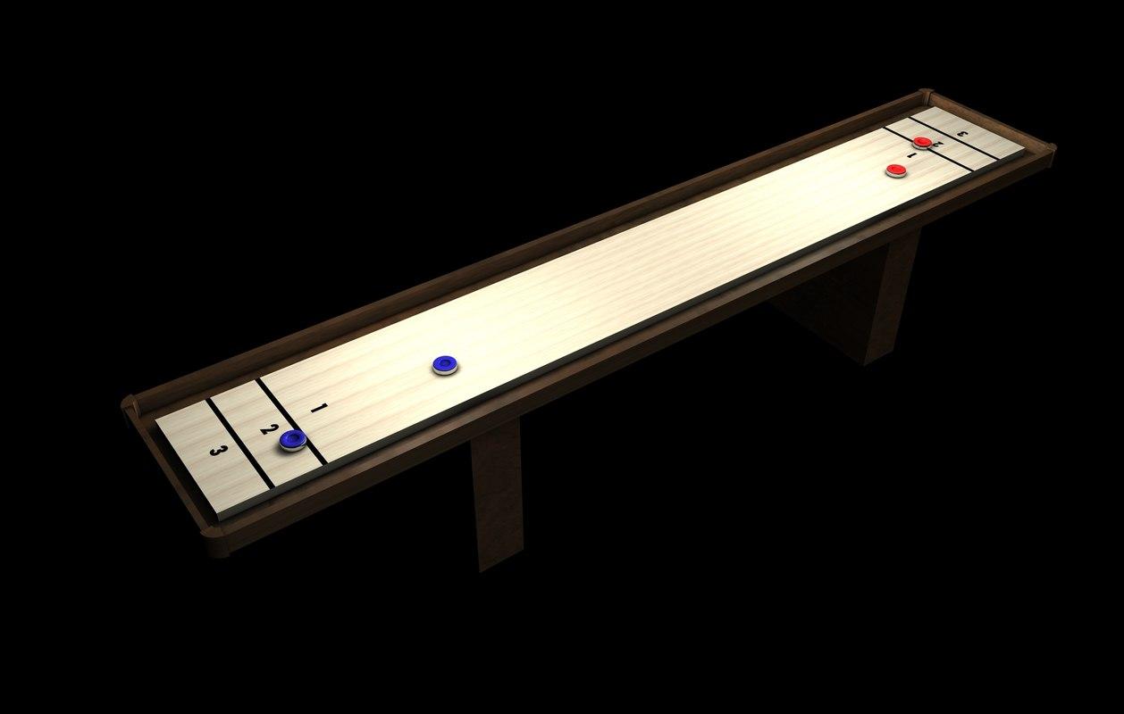 3d shuffleboard shuffle board