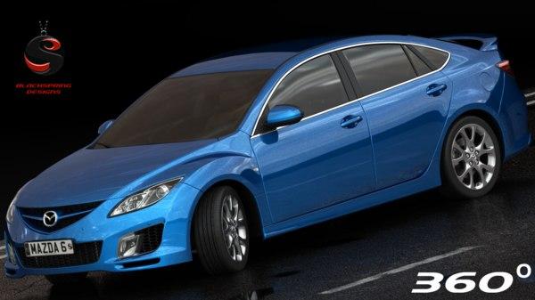 3d mazda 6 2012 interior model