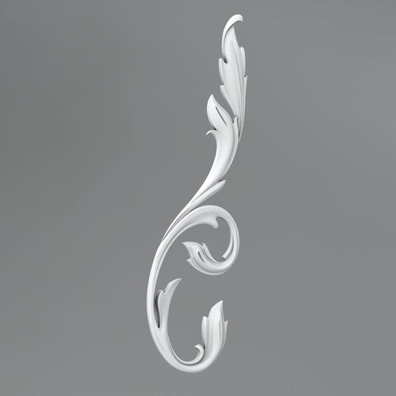 3d classical decoration ornamental