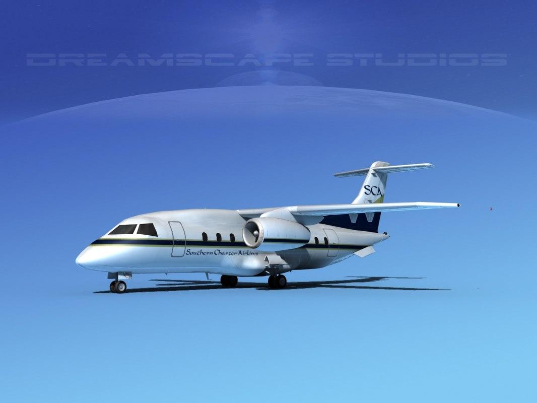 3d model 328jet jet aircraft